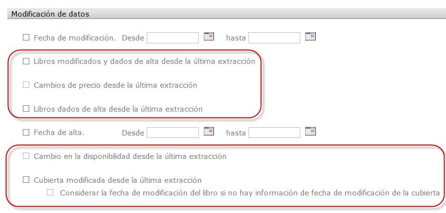 Criterios en Extracciones automáticas